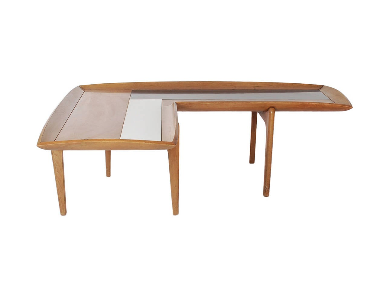 Midcentury Walnut Boomerang Coffee Table By John Keal For