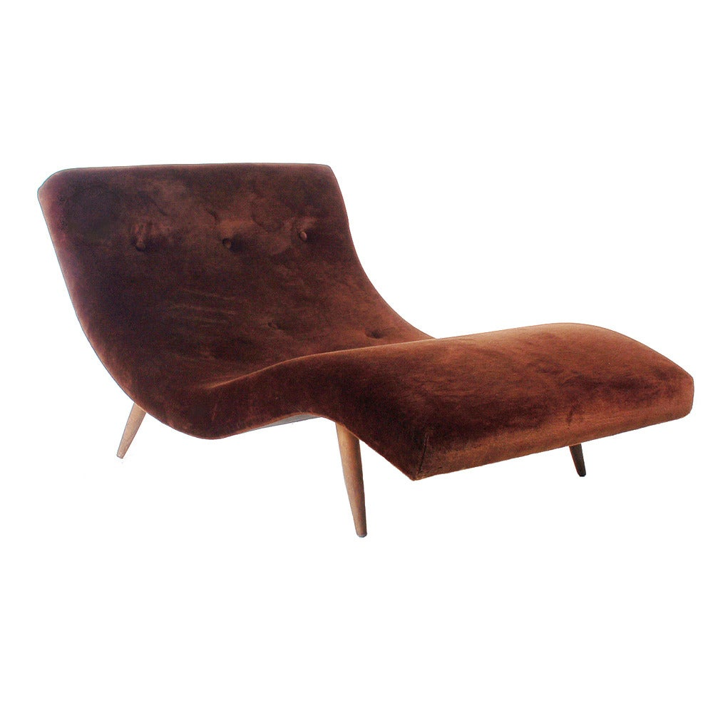 Mid century chaise lounge by adrian pearsall at 1stdibs for Century furniture chaise lounge