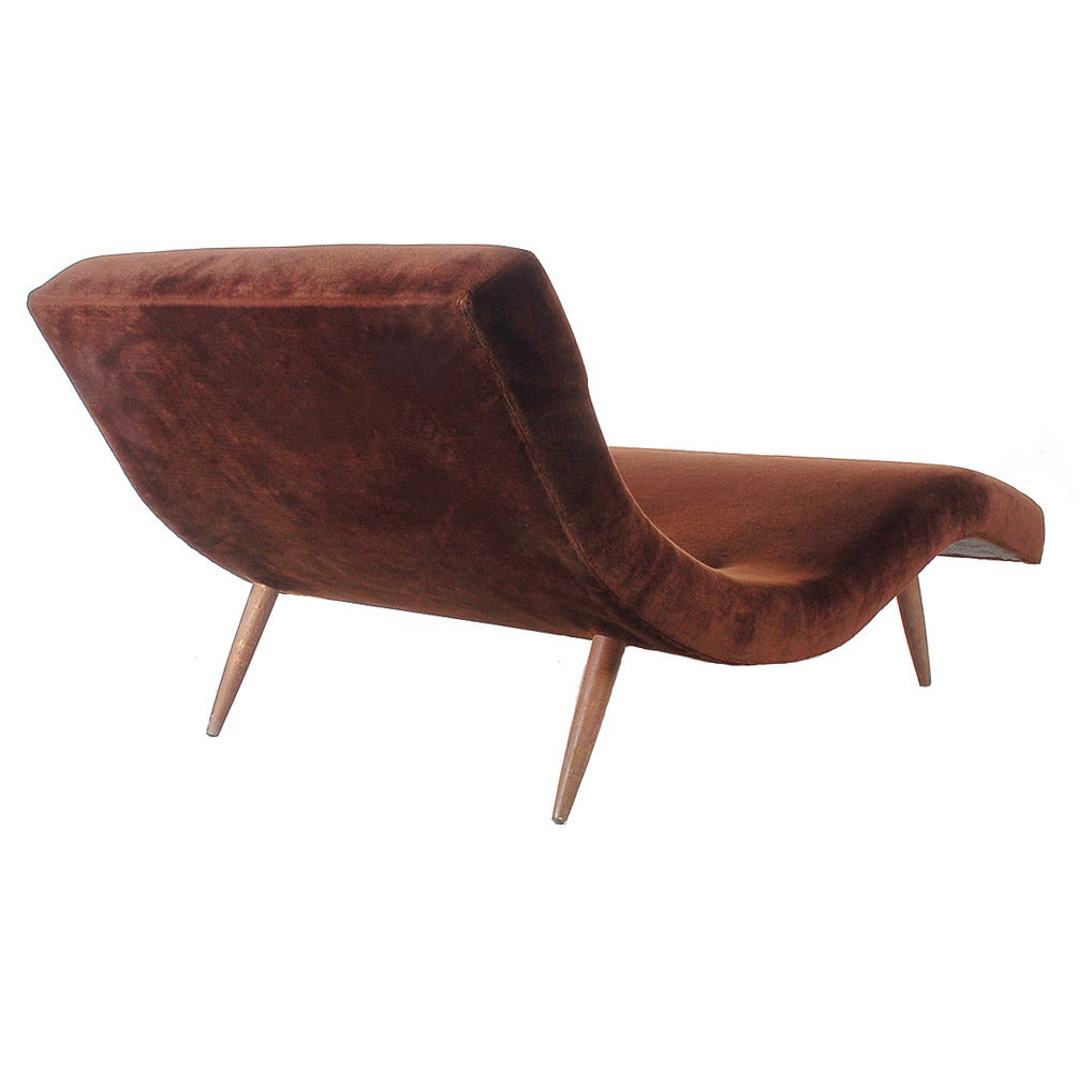 Mid century chaise lounge by adrian pearsall at 1stdibs - Mid century chaise lounge chair ...