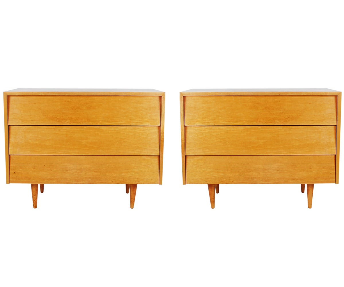 Florence Knoll For Knoll Associates Three Drawer Dressers