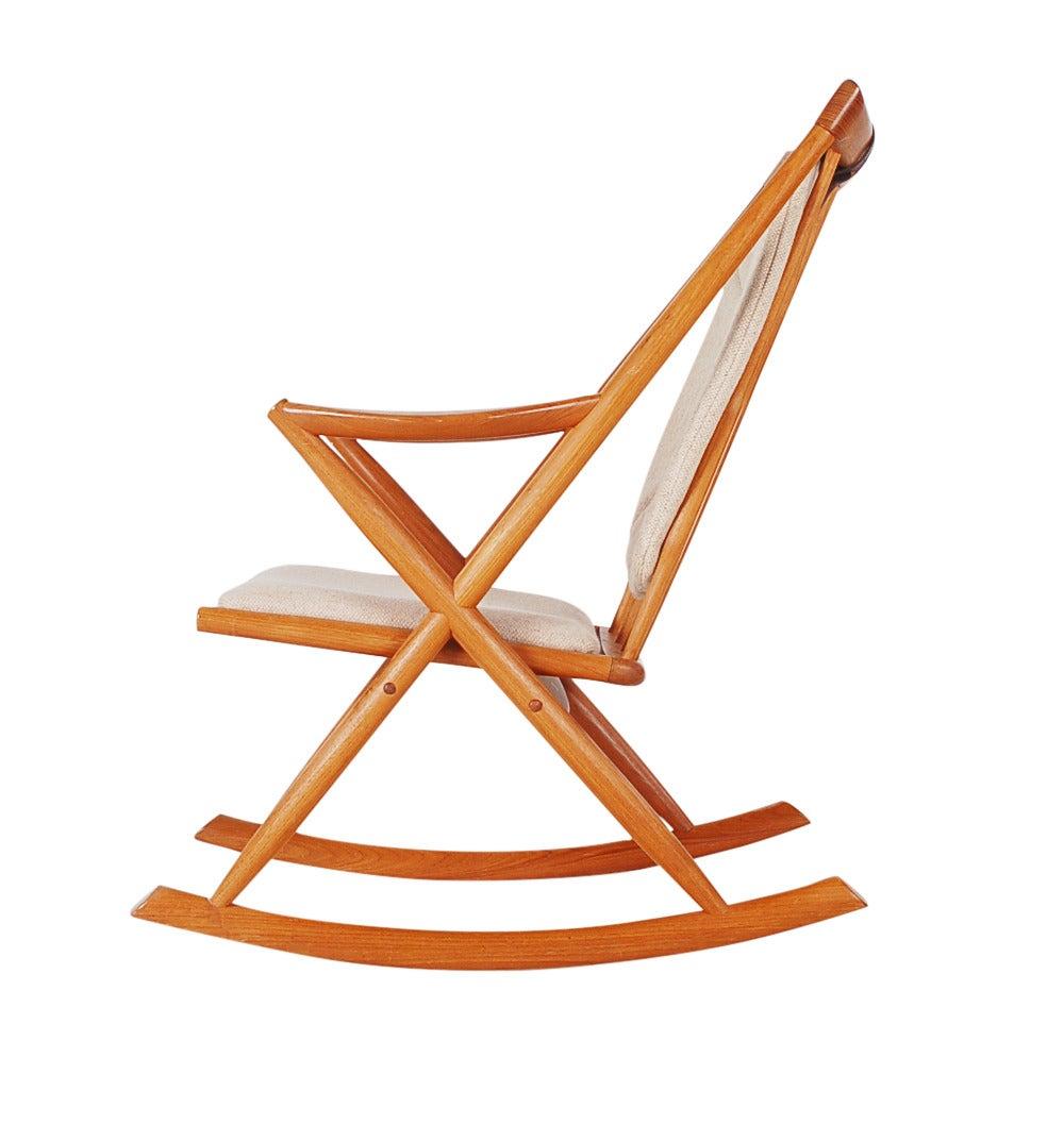 Mid Century Danish Teak Rocking Chair At 1stdibs