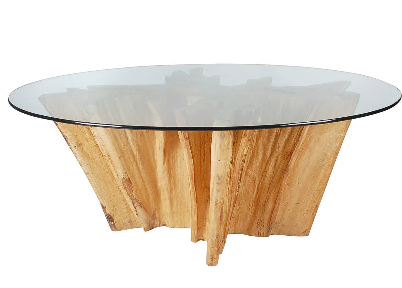 Michael taylor cyprus tree trunk dining table at 1stdibs - Michael Taylor Cypress Live Edge Studio Dining Table 2