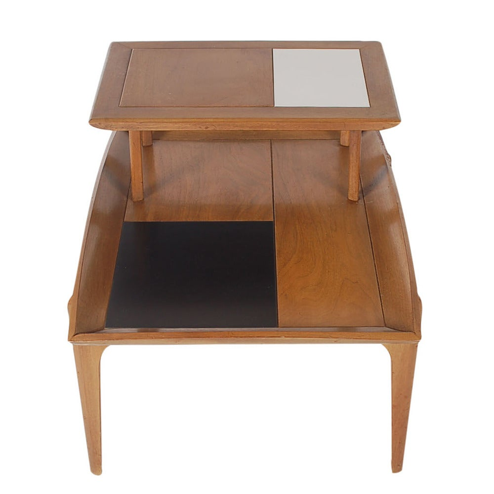 Mid-Century Modern Walnut Step Tables by John Keal for Brown Saltman For Sale