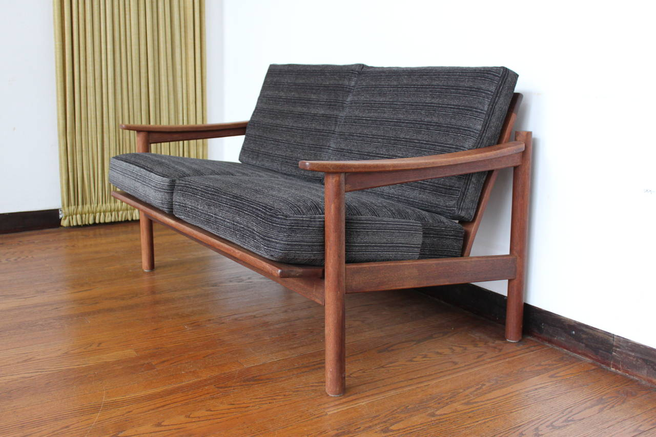 Mid Century Modern Danish Teak Loveseat Sofa At 1stdibs