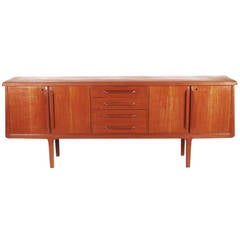 Mid-Century Modern Danish Long Teak Credenza after Kai Kristensen or Arne Vodder