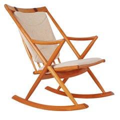 Mid Century Danish Teak Rocking Chair