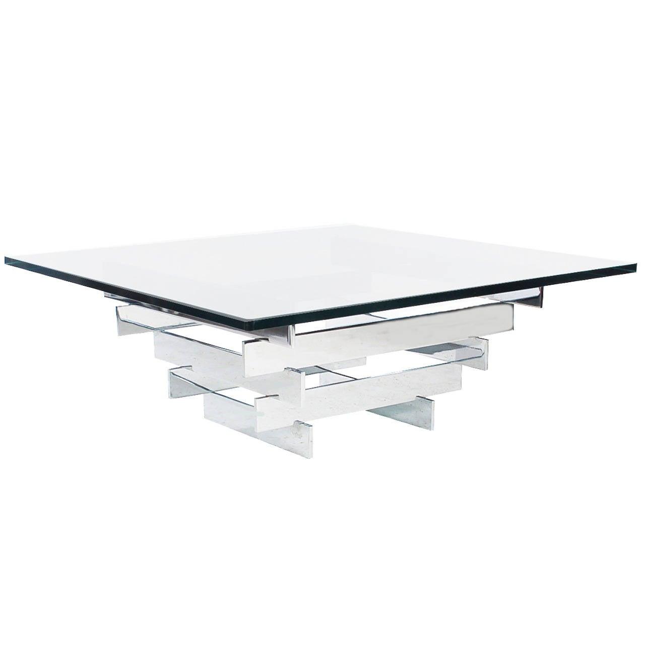 paul mayen for habitat chrome and glass coffee table at stdibs - paul mayen for habitat chrome and glass coffee table