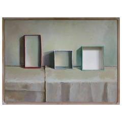 One Empty Box Trompe d'loeil Painting by Adler