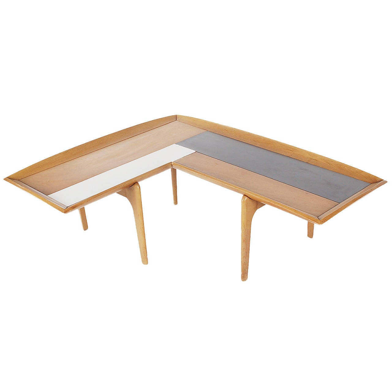 Boomerang Coffee Table Midcentury Walnut Boomerang Coffee Table By John Keal For Sale At