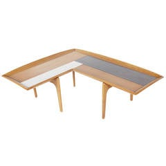 Midcentury Walnut Boomerang Coffee Table by John Keal
