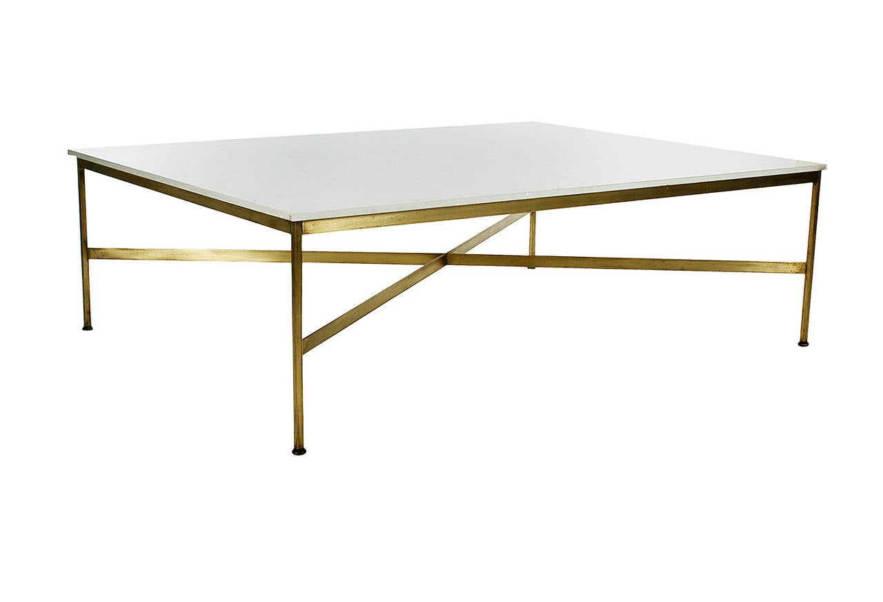 Paul Mccobb For Calvin Brass X Base Coffee Table At 1stdibs