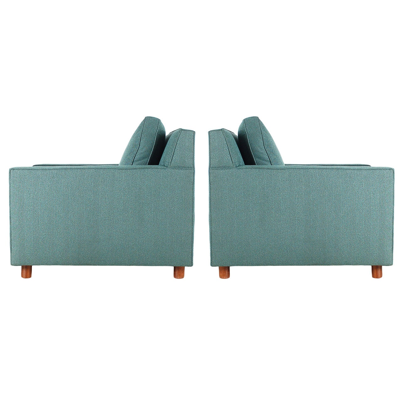 Mid-Century Modern Cube or Case Club Lounge Chairs