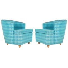 Pair of Matching Club Chairs in the Manner of Edward Wormley for Dunbar