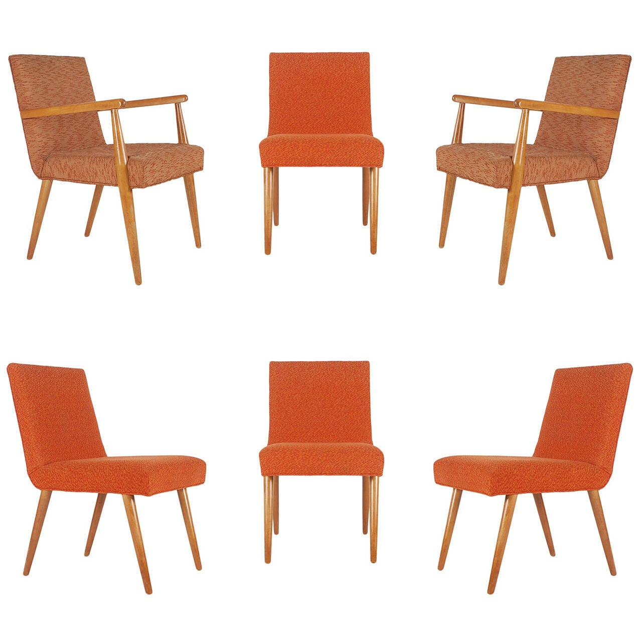T.H. Robsjohn-Gibbings for Widdicomb Dining Chairs