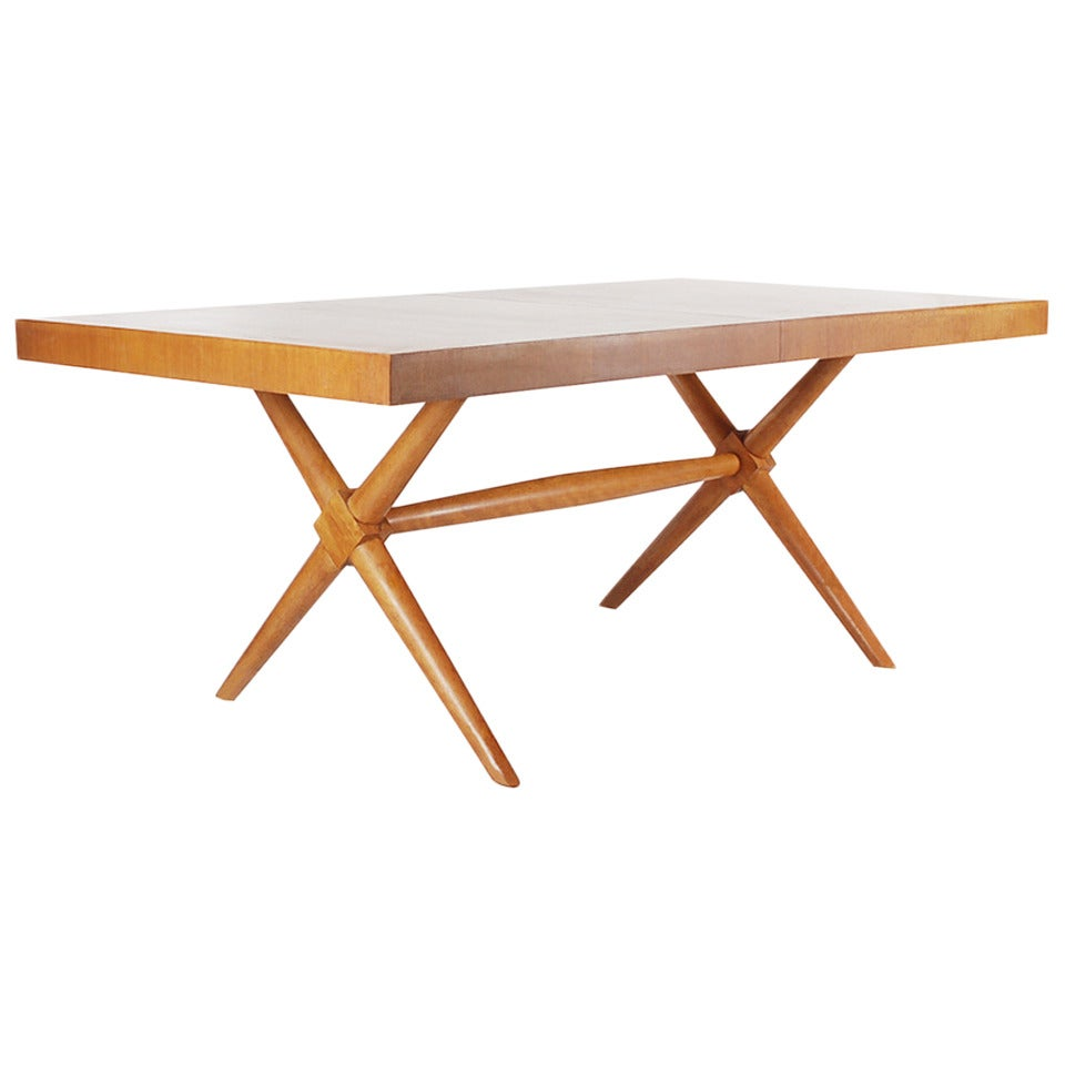 TH RobsjohnGibbings XBase Dining Table For Widdicomb At Stdibs - X base dining table