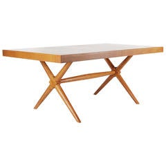 T.H. Robsjohn-Gibbings X-Base Dining Table for Widdicomb