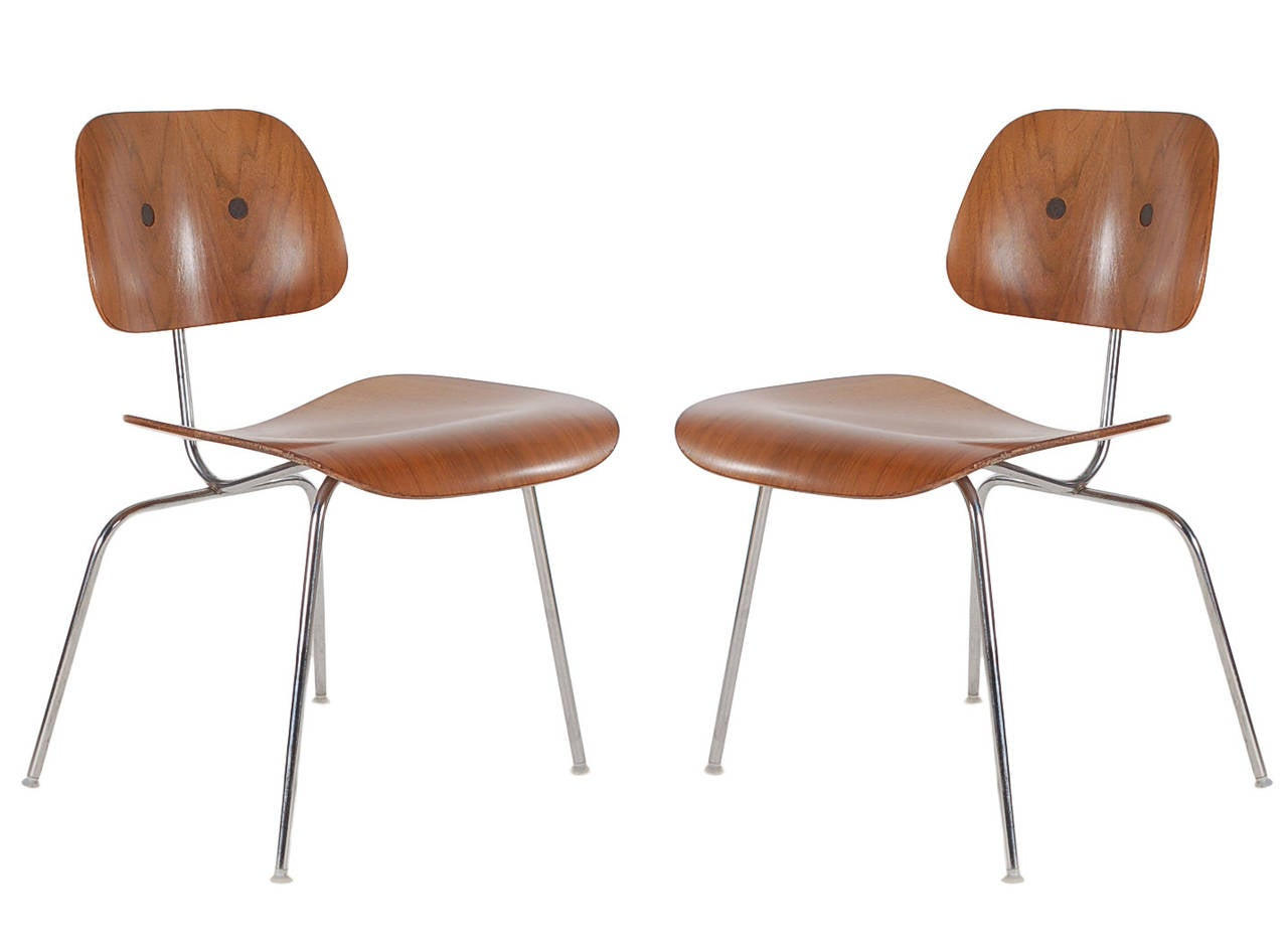 charles eames for herman miller dcm plywood dining chairs at 1stdibs