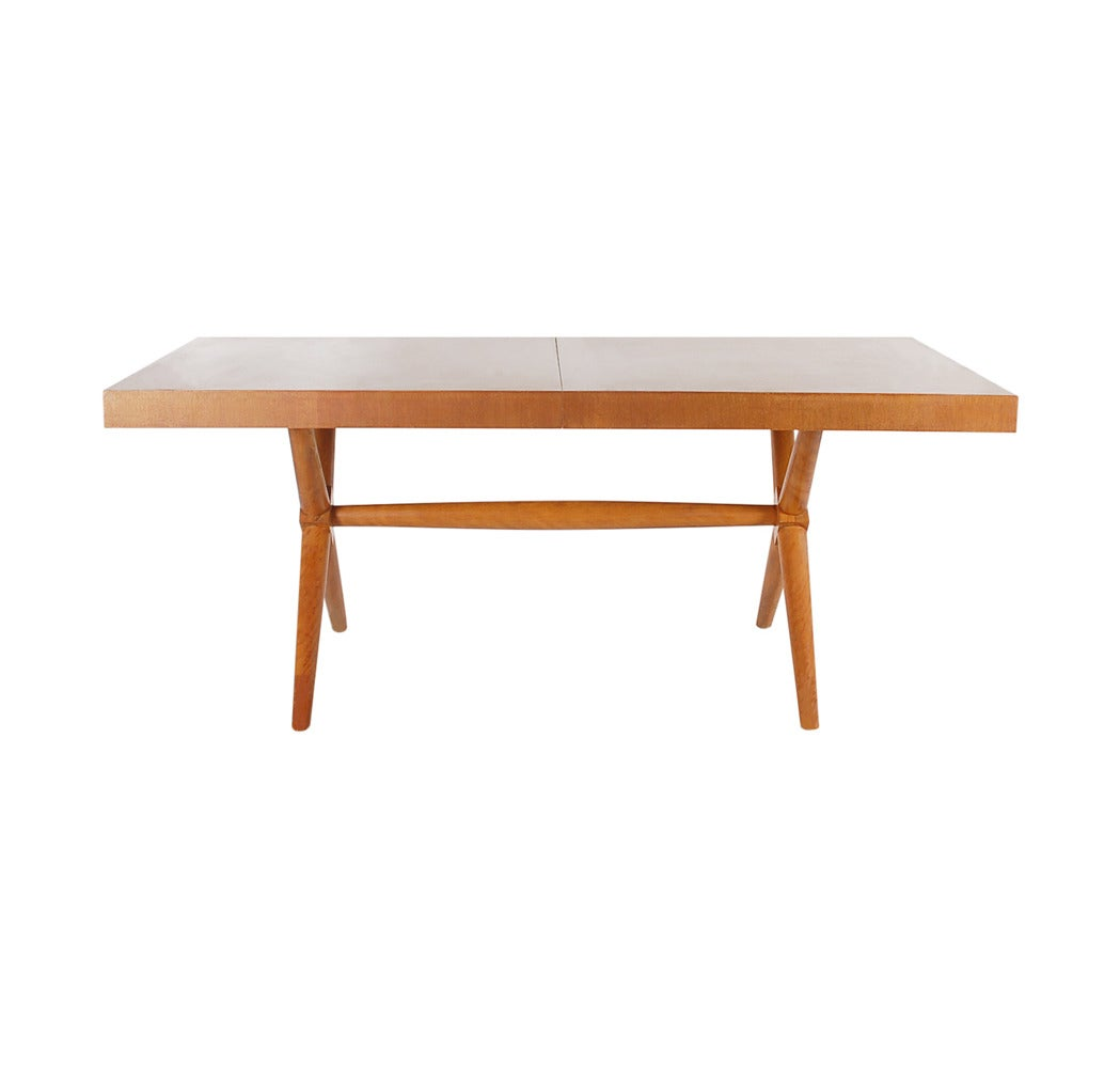 Robsjohn Gibbings X Base Dining Table For Widdicomb At 1stdibs