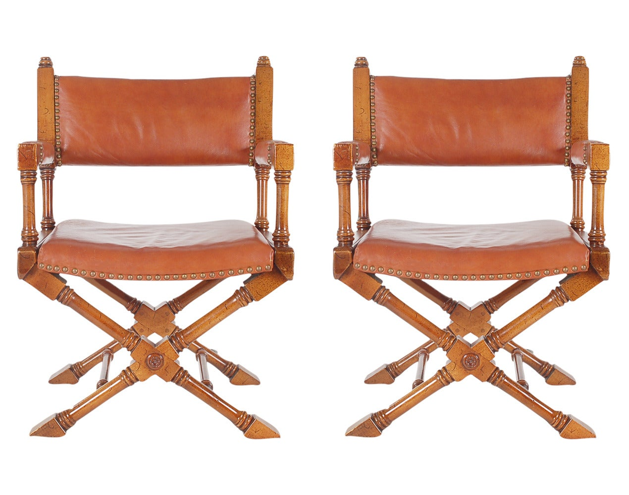vintage leather campaign or director chairs 2