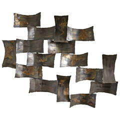 Mid Century Brutalist Degroot Wall Sculpture