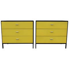 Pair of George Nelson for Herman Miller Three-Drawer Steel Frame Chests