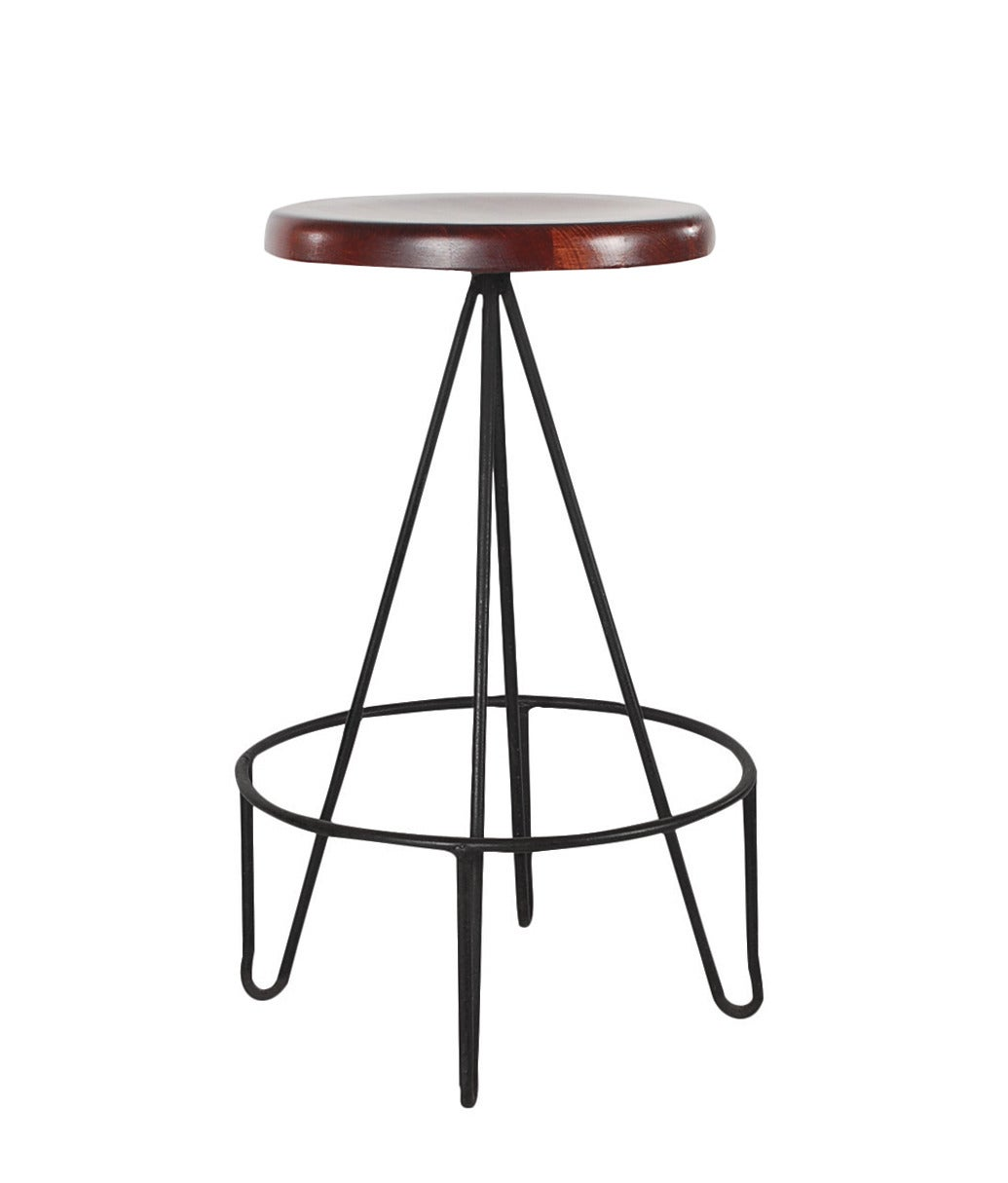 Frederick Weinberg Iron Hairpin Leg Bar Stools at 1stdibs : hw85261 1 from www.1stdibs.com size 1035 x 1215 jpeg 48kB
