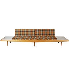 Adrian Pearsall Sofa with Marble End Tables