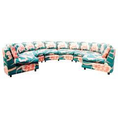 Milo Baughman Three-Piece Circular Sofa