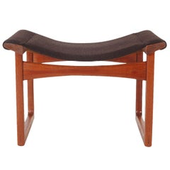 Teak Foot Stool by Ejner Larsen and A. Bender Madsen for L. Pontoppidan
