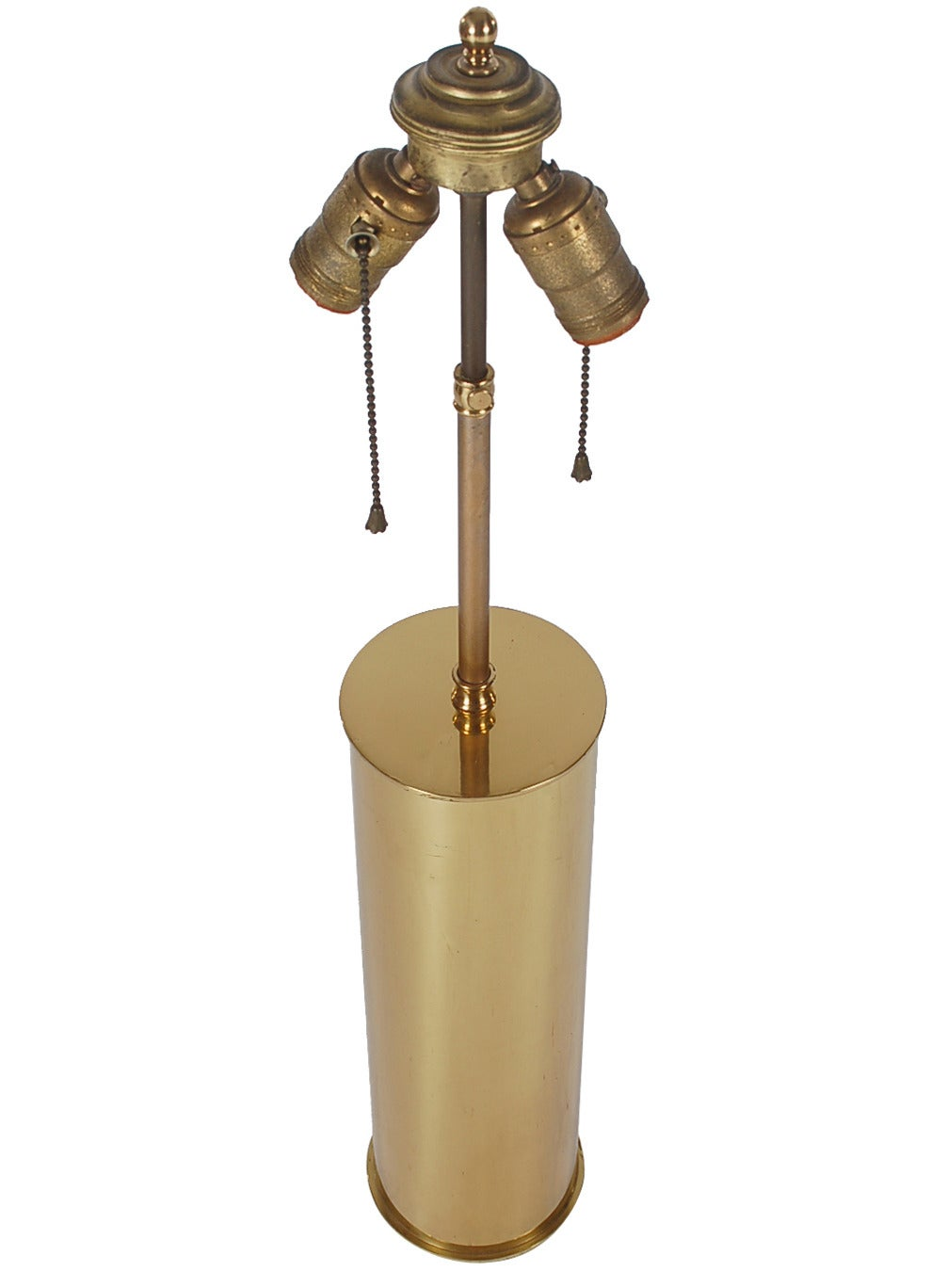 Mid Century Modern Brass Cylinder Table Lamps At 1stdibs