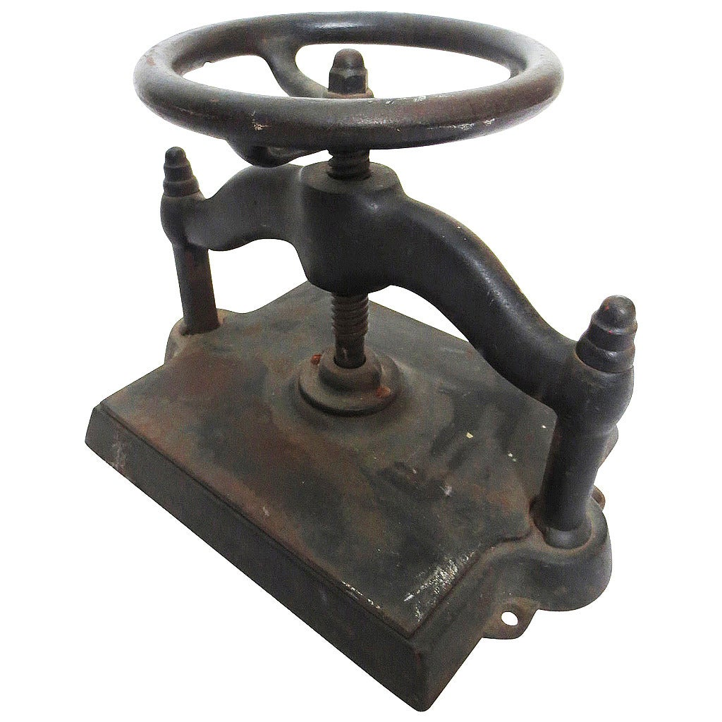 Antique Cast Iron Book Press At 1stdibs