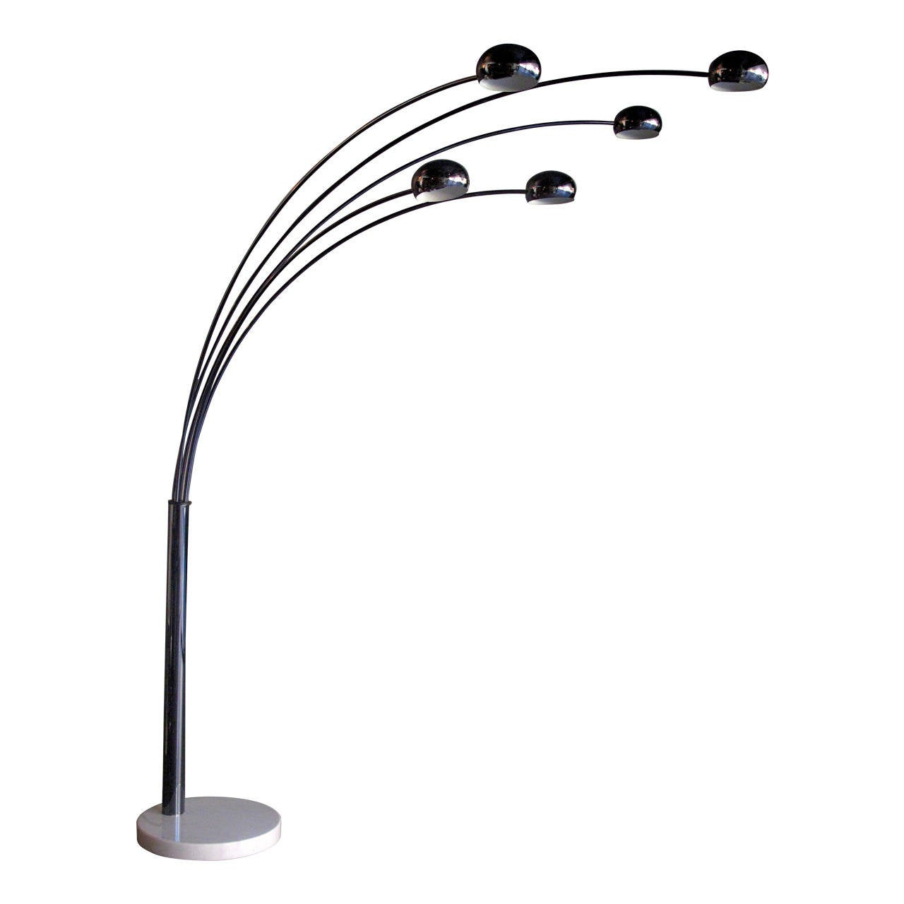 danish 1960s five arm arc floor lamp at 1stdibs. Black Bedroom Furniture Sets. Home Design Ideas