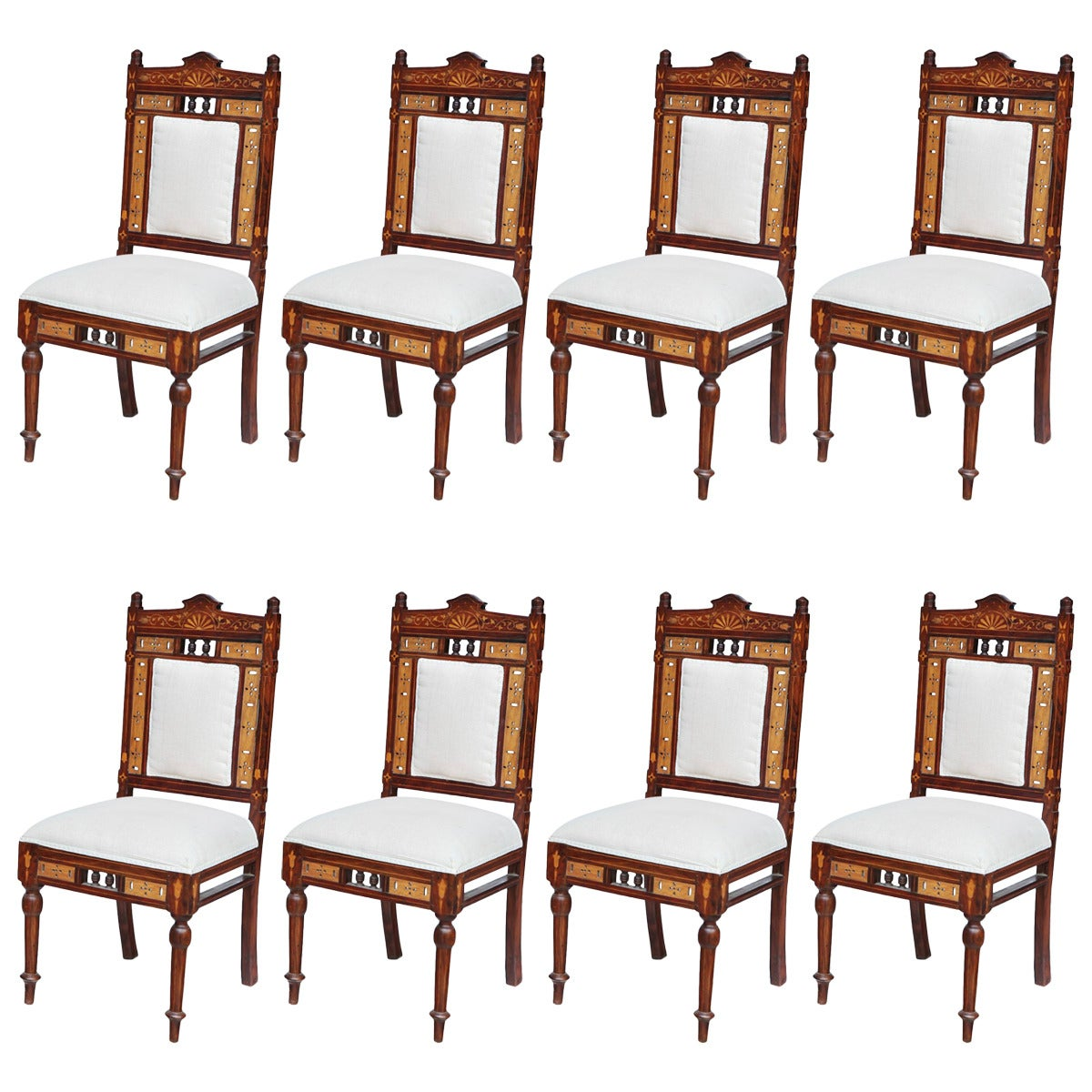 rare eight indian chairs set at 1stdibs