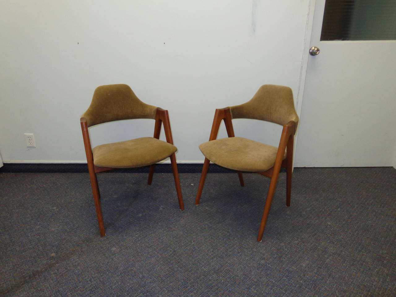 Pair Of Chairs By Kai Kristiansen At 1stdibs