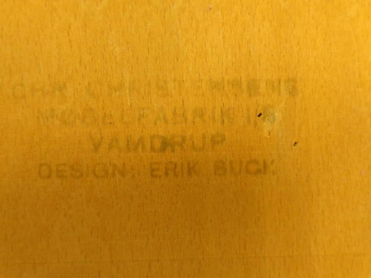 Erik Buch Set of Four Teak Dining Chairs Reupholstered in Leather For Sale 3