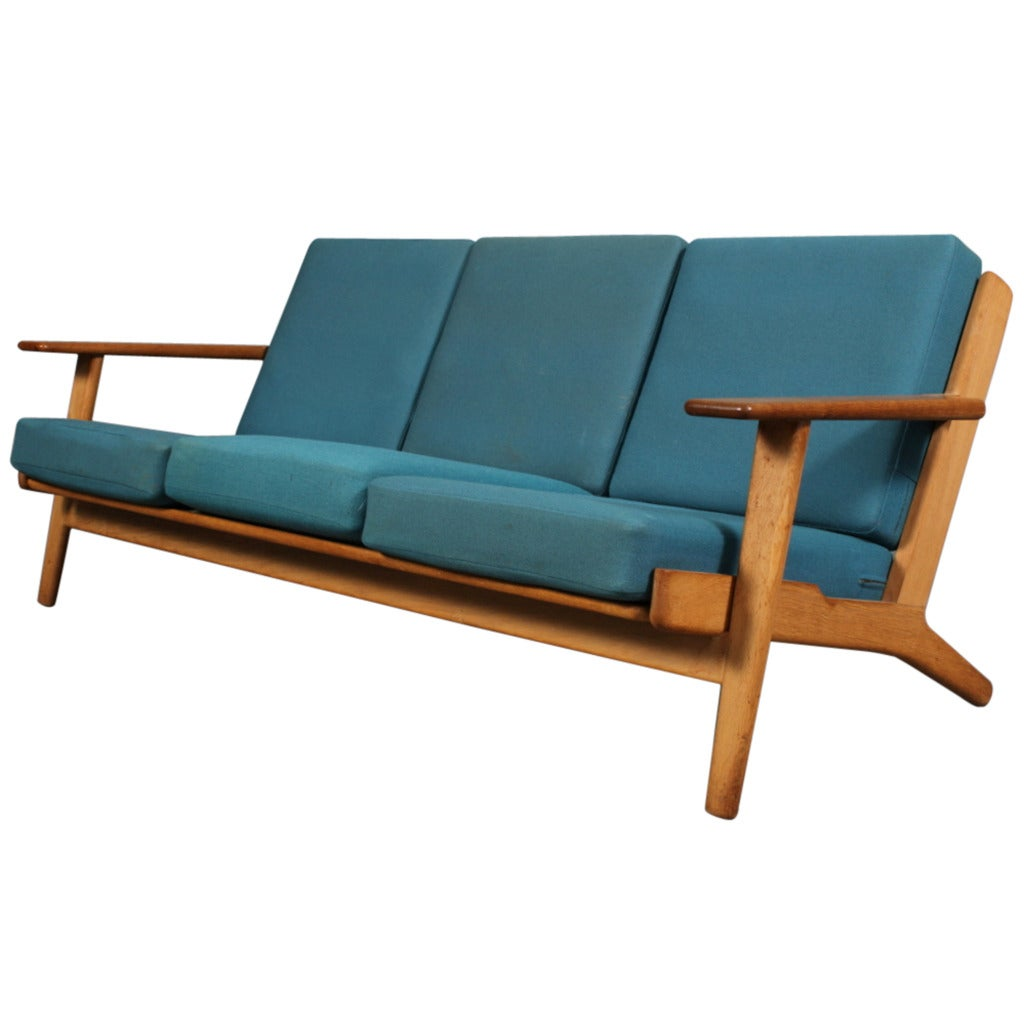 hans j wegner sofa model ge 290 for sale at 1stdibs. Black Bedroom Furniture Sets. Home Design Ideas