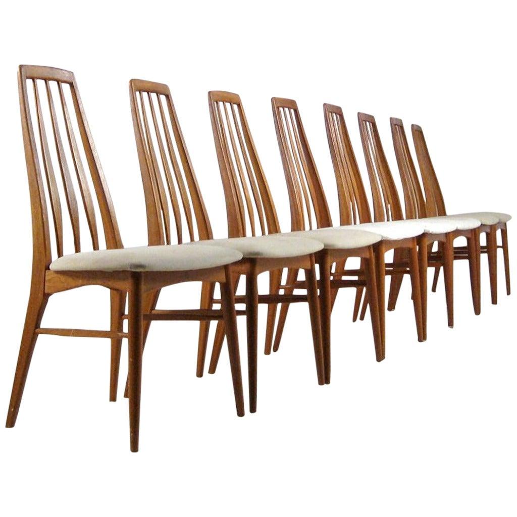 Eva Chair by Niels Koefoed for Hornslet Mobelfabrik in Teak