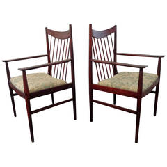 Arne Vodder Rosewood Chairs, Model 422 by Sibast, Including Two Armchairs