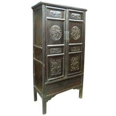 Chinese Cabinet in Fir from the Late 19th Century