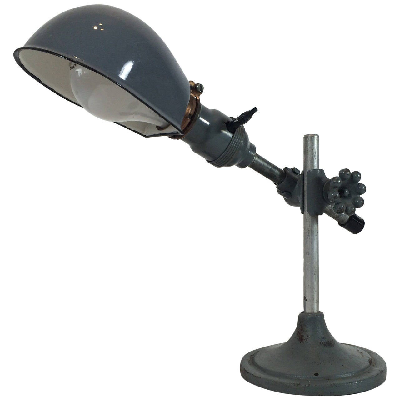 O.C. White Industrial Table Lamp In Original Finish At 1stdibs