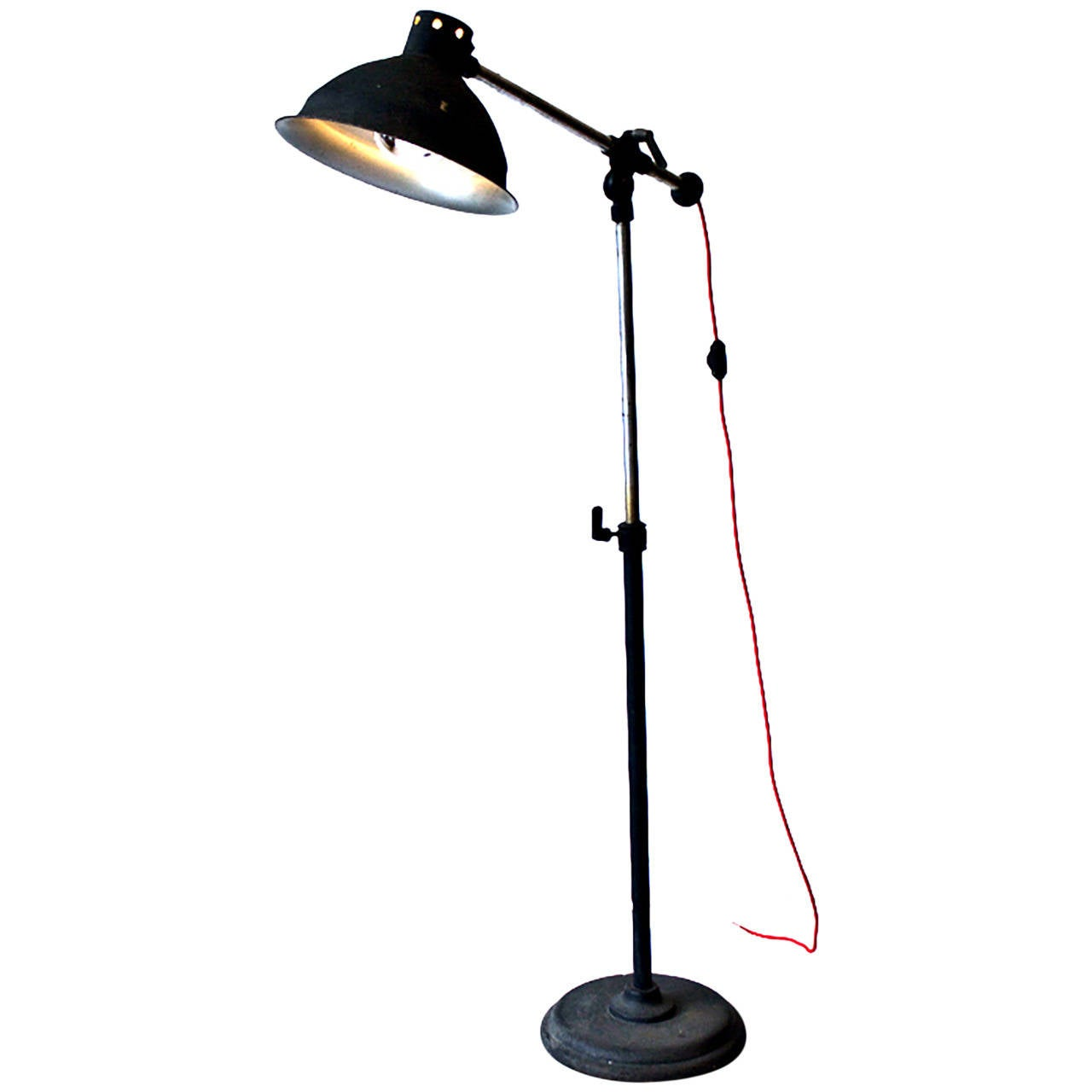 Industrial Metal Floor Lamp At 1stdibs