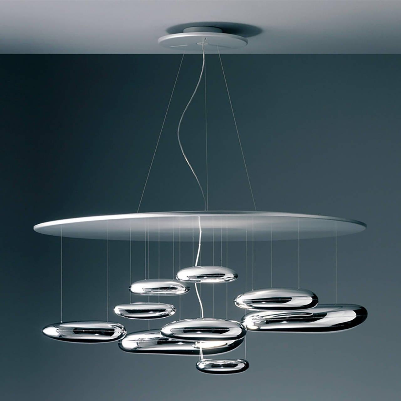 Artemide mercury suspension light at 1stdibs for Suspension a 3 lampes