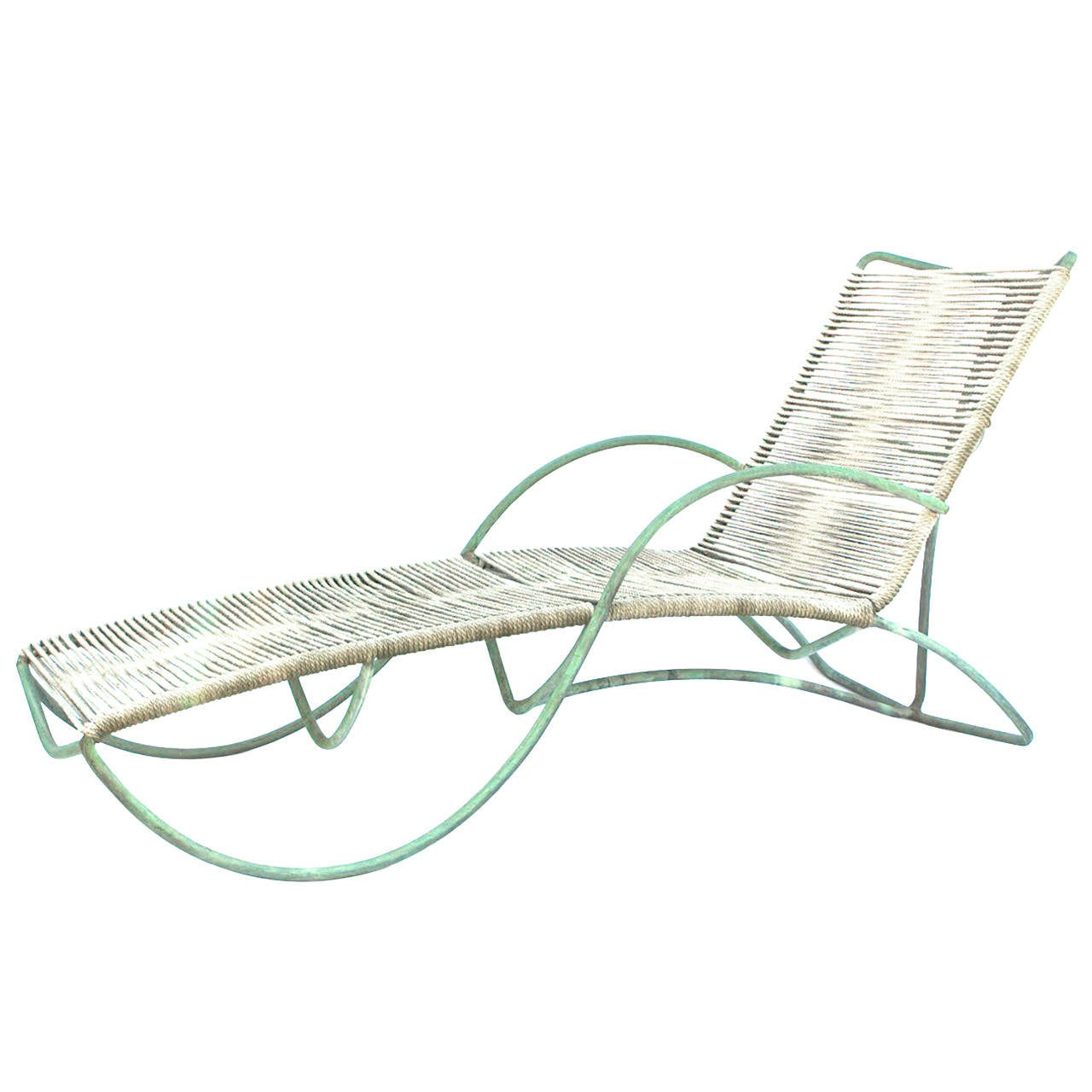 Four walter lamb bronze chaise s lounges at 1stdibs for Bronze chaise lounge