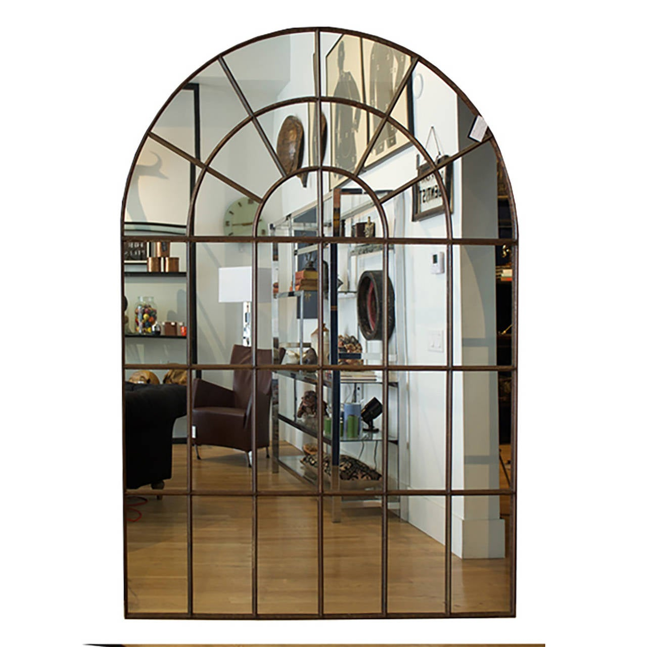 Cast iron palladian window mirror image 6 for Full length window mirror