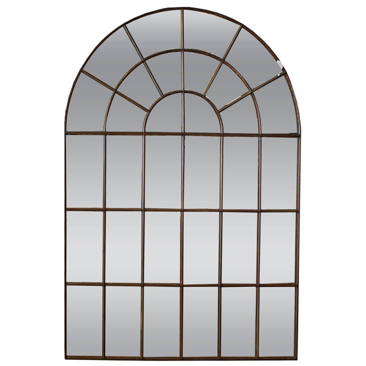wrought iron mirror frame