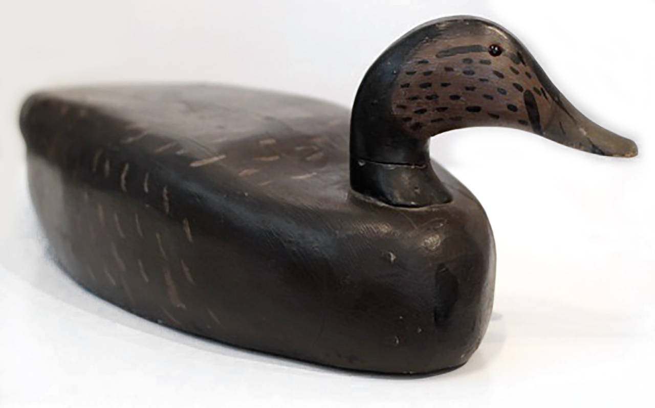 Early 20th Century Monumental Hand Painted Wooden Duck Decoy For Sale At 1stdibs