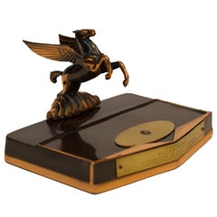 1930s Art Deco Copper Plated Pegasus Pen Holder