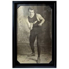Early 20th Century Photograph of Bare Knuckle Boxer