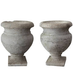 Early 20th Century Cast Stone Urns