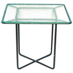 Walter Lamb Bronze Patio Side Table